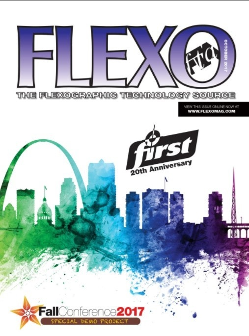 FLEXO October Cover printed on Mark Andy Digital Series