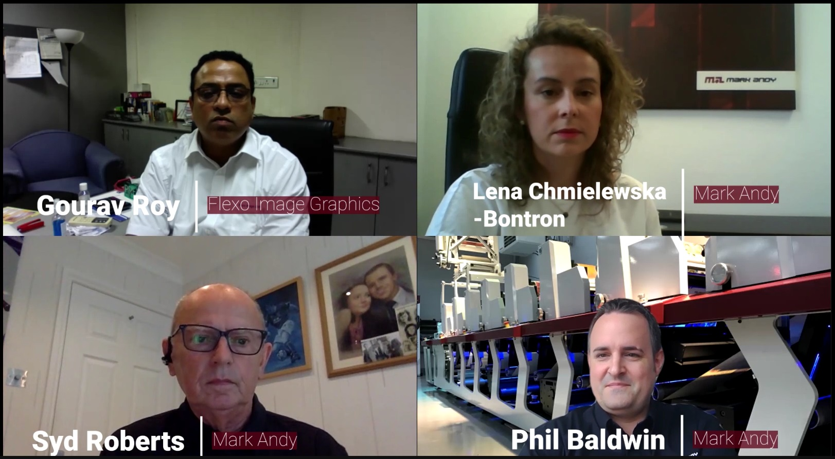 Hosts of the Mark Andy's Webinar With Flexo Image Graphics