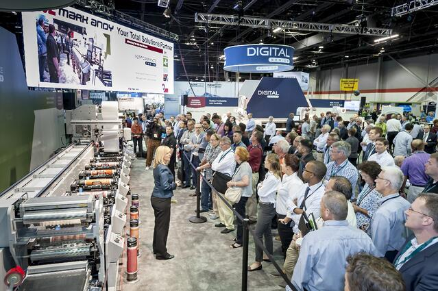 The Mark Andy Performance Series 7 at Labelexpo Americas